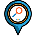 search, Gps, pin, placeholder, signs, map pointer, Map Location, Map Point Black icon