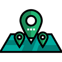 Gps, pin, position, placeholder, signs, locations, map pointer, Map Location, Map Point Black icon