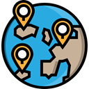 Gps, pin, position, placeholder, map pointer, Map Point, Maps And Flags, Geolocalization, Map Location DodgerBlue icon