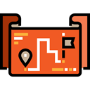 Gps, position, Direction, Map Point, Route, map pointer, Maps And Flags, Map Location Chocolate icon