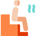 Sauna, relax, spa, stick man, Relaxing, Healthcare And Medical Coral icon