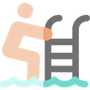 water, sports, Ladder, Swimming Pool, Summertime, Healthcare And Medical Black icon