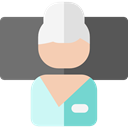 people, profile, Avatar, relax, Healthcare And Medical, user, woman, Business, Girl DimGray icon