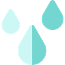 weather, Rain, drop, water, nature, Teardrop, raindrop, drops Black icon