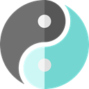 religion, Balance, philosophy, signs, Yin Yang, Taoism, Cultures DimGray icon