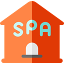 spa, Lavatory, Healthcare And Medical, buildings, Beauty, relax, leisure, Clean, Bath, bathroom Coral icon