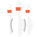 Game, sports, Fun, leisure, Bowling Pin, Sports And Competition WhiteSmoke icon