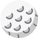 Ball, Golf, sports, birdie, leisure, Sports And Competition WhiteSmoke icon