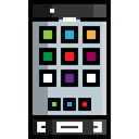 touch screen, mobile phone, cellphone, smartphone, technology, Communications Black icon