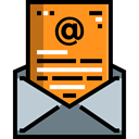 Email, envelope, Multimedia, Message, mail, interface, mails, envelopes, Communications DarkOrange icon