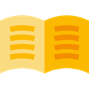 Books, Library, miscellaneous, education, reader, reading, study, ebook Orange icon