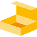 Delivery, cardboard, Shipping And Delivery, package, Box, packaging, Business Orange icon