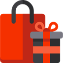 shopping, Bag, shopping bag, Supermarket, Shopper, Commerce And Shopping, Business, commerce OrangeRed icon