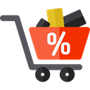 online store, Shopping Store, Commerce And Shopping, commerce, shopping cart, Supermarket Icon