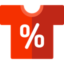 Commerce And Shopping, Clothes, style, fashion, Femenine, commerce, Shirt OrangeRed icon