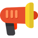 megaphone, loudspeaker, shout, protest, Communications, announcer, Tools And Utensils Chocolate icon