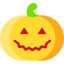 autumn, Fruit, halloween, pumpkin, horror, Terror, decoration, spooky, scary, food, fall Gold icon