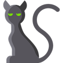 Cat, halloween, Animals, Black cat, Superstitious, Superstition DimGray icon