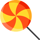 food, sugar, Dessert, sweet, Lollipop, Food And Restaurant OrangeRed icon