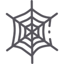 insect, halloween, Animals, cobweb, Spider Web, Trap Black icon
