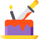 cake, food, Cook, halloween, Food And Restaurant, Dessert, sweet, Bakery, baker Black icon