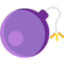weapons, Detonation, Terrorism, Bomb, explosive, miscellaneous MediumPurple icon