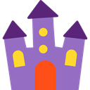 halloween, Fun, spooky, haunted house, Amusement Park MediumPurple icon