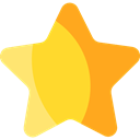 star, Favorite, Favourite, interface, rate, shapes, signs, Shapes And Symbols Gold icon