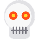 Poisonous, halloween, dangerous, signs, Anatomy, medical, Dead, skull WhiteSmoke icon