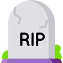 death, halloween, Stone, Cemetery, Rip, tomb, tombstone Gainsboro icon