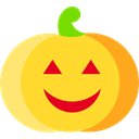 Terror, spooky, scary, fear, halloween, pumpkin, horror Gold icon