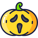 food, fall, Fruit, halloween, pumpkin, horror, Terror, decoration, spooky, scary, autumn Gold icon
