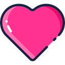 lover, loving, Love And Romance, interface, Like, shapes, Peace, Heart DeepPink icon