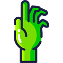 Hand, Dead, halloween, horror, fear, zombie, Terror, spooky, scary Icon