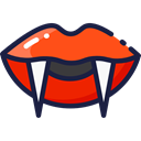 horror, mouth, Teeth, Terror, lips, spooky, scary, fear, halloween, vampire Black icon