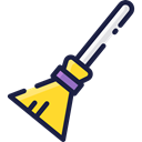 Clean, broom, sweep, halloween, cleaner, cleaning, sweeping, Tools And Utensils Black icon