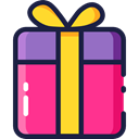 christmas, gift, present, surprise, Christmas Presents, Birthday And Party, birthday DeepPink icon