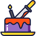 cake, food, Cook, halloween, Dessert, sweet, Bakery, baker, Food And Restaurant MidnightBlue icon
