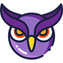bird, hunter, owl, Animals MidnightBlue icon