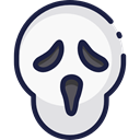 scream, horror, Terror, spooky, scary, Fright, Frightening, Avatar, halloween WhiteSmoke icon