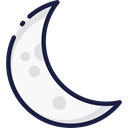 Moon, weather, nature, halloween, meteorology, Astronomy, full moon, Moon Phase Black icon