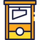 miscellaneous, head, halloween, horror, Guillotine, Tools And Utensils, Torture MidnightBlue icon
