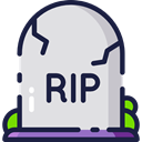 halloween, Stone, Cemetery, Rip, tomb, tombstone, death Gainsboro icon