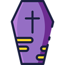halloween, coffin, Box, cross, death MediumPurple icon
