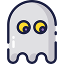 playing, halloween, leisure, videogame, Game, play, gaming, Ghost Gainsboro icon