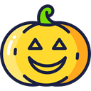 horror, Terror, spooky, scary, halloween, pumpkin, fear Gold icon