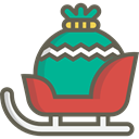 transportation, transport, winter, Sleigh, Snow, christmas, xmas, sled, sledge DimGray icon