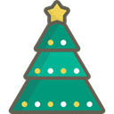 christmas, nature, Forest, woods, trees, Christmas tree Black icon