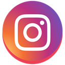instagram new design, round, social media, Instagram IndianRed icon