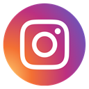 round, social media, Instagram, instagram new design IndianRed icon